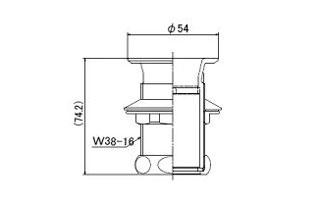 洗面排水共通金具32図面